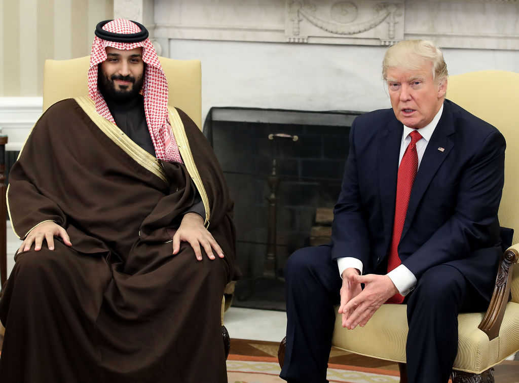 Donald Trump meets with Saudi Arabia's Mohammed bin Salman in the Oval Office, March 14, 2017. Mark Wilson / Getty