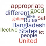 """Word cloud of Matt Yglesias's April 24 Slate article on the Bangladeshi tragedy showing that """"good"""" and """"appropriate"""" were two of the terms he used most frequently. (ABCya.com)"""