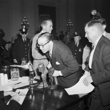 Dalton Trumbo Leaving Witness Stand