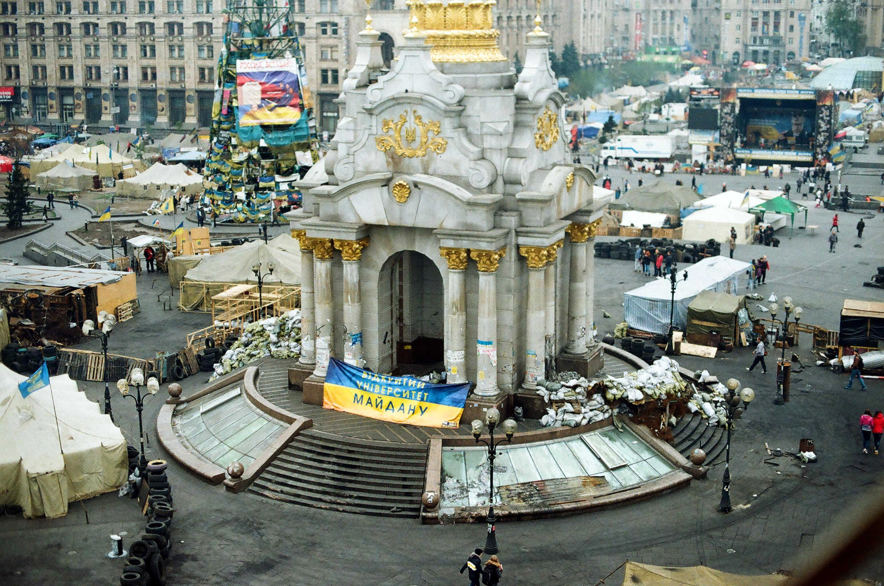 The set of protests in Ukraine.
