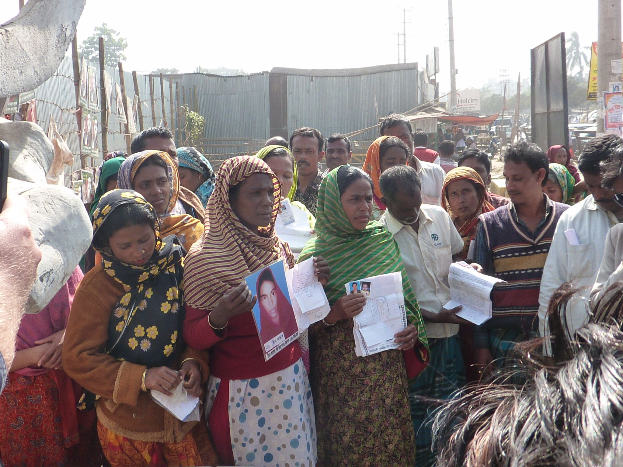 relatives of the missing at Rana Plaza