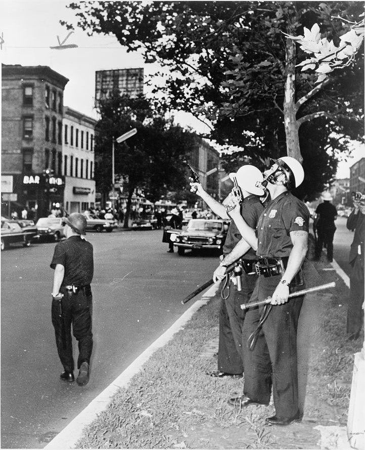 Police in Harlem, July 1964. Stanley Wolfson / World Telegram & Sun.