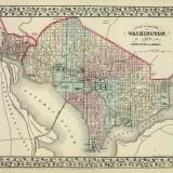 1866 Mitchell Map of Washington, DC