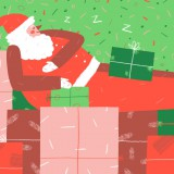 He has taken untold presents that he never toiled to earn. (Art by Leslie Wood)