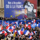 Supporters of the French far-right National Front party rally in Paris last May. Pierre Andrieu / AFP / Getty Images