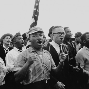 Martin Luther King Jr and other civil rights activists during the 1965 Selma-to-Montgomery March.