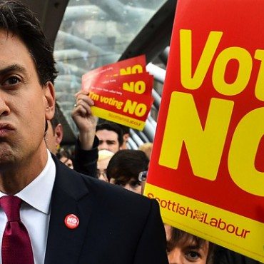 Labour Party leader Ed Miliband during the Scottish independence referendum. Ben Stanstall / AFP
