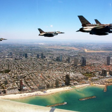 Israeli Air Force planes fly over Tel Aviv. Israeli Spokesperson's Unit.
