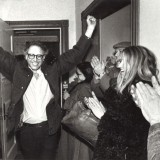 Bernie Sanders celebrates his first electoral victory as mayor of Burlington in 1981.