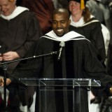 Kanye West speaks after receiving an honorary degree from School of the Art Institute of Chicago. Timothy Hiatt / Getty