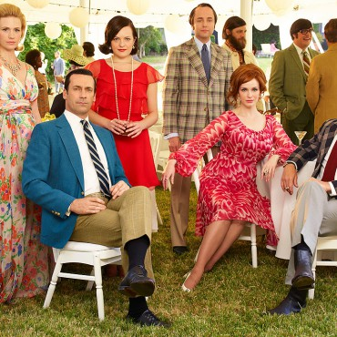 "A promotional photo for ""The Party's Over,"" the final season of Mad Men."