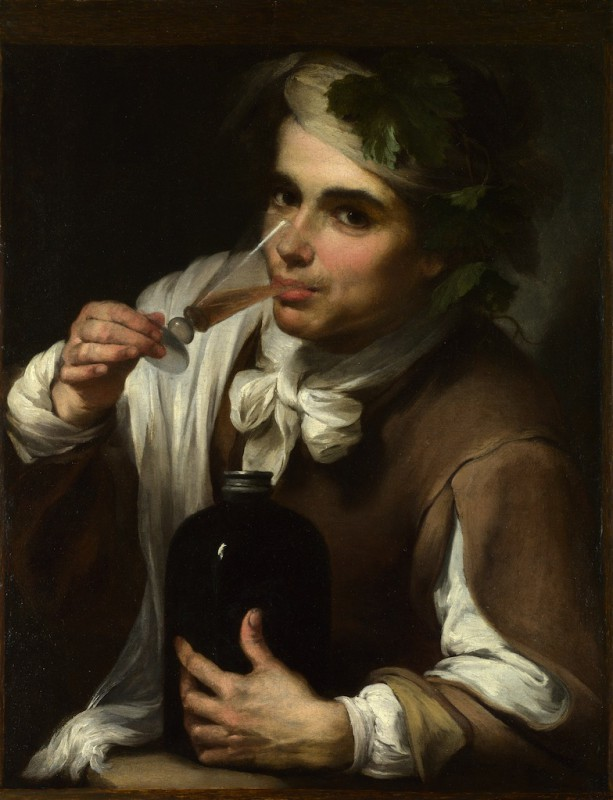 bartolome-esteban-murillo- young-man-drinking- 1700-1750