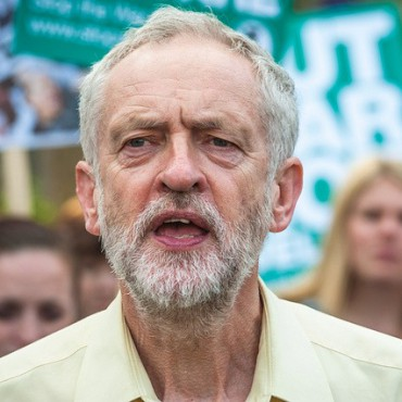 Labour leader hopeful Jeremy Corbyn at a protest this month against the Conservative Party's budget. lewishamdreamer / Flickr