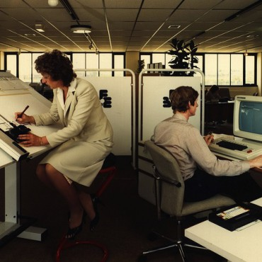 Office workers in the United Kingdom in the 1970s. Tyne & Wear Archives & Museums / Flickr