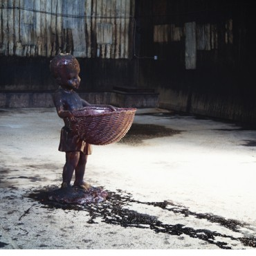"""Kara Walker's """"A Subtlety or The Marvelous Sugar Baby"""" at the Domino Sugar Factory in Williamsburg, Brooklyn. Photo by Gillian Louise Bostock"""