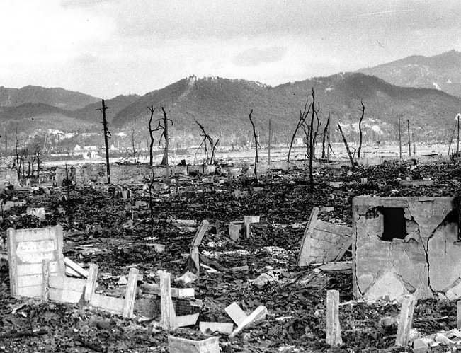 Ground Zero in Hiroshima, Japan. US Army