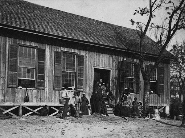 Freedmen's School. Edisto Island, South Carolina.