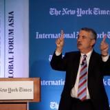 Thomas. Friedman speaks at the 2013 International New York Times Global Forum.