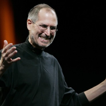 Steve Jobs speaks during the MacWorld Conference in San Francisco in 2008.