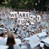 Students at Columbia University's 2012 commencement. Llee_wu / Flickr