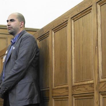 Steven Salaita at a press conference in Urbana, IL. CUNY Advocate