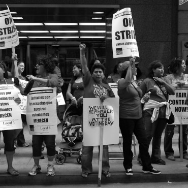 CTU members on strike in September 2012. misterbuckwheattree / Flickr