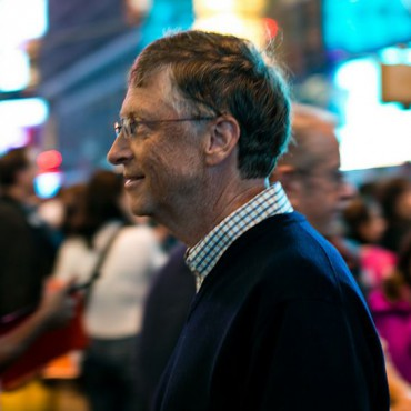 Bill Gates in Times Square in 2012. Tom Starkweather