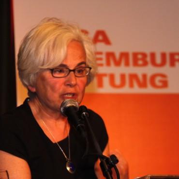 Ellen Meiksins Wood in Berlin in 2012. Rosa Luxemberg-Stiftung