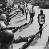 Memphis sanitation workers on strike in 1968.