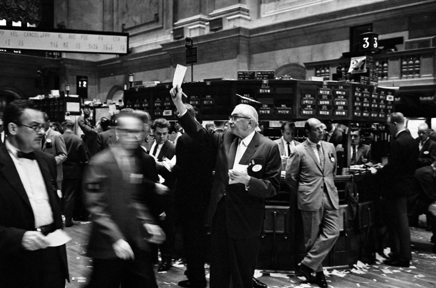 The New York Stock Exchange before the use of computers. Thomas J. O'Halloran / Library of Congress