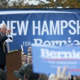 Bernie Sanders speaks at a November 2015 rally in front of the New Hampshire State House. Allegra Boverman. New Hampshire Public Radio