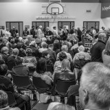 Caucusgoers at Greenwood Elementary School in Des Moines last night. Phil Roeder / Flickr