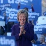Hillary Clinton at a rally in New Hampshire last November. New Hampshire Public Radio / Flickr