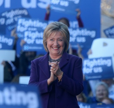 Hillary Clinton at a rally in New Hampshire last November. New Hampshire Public Radio / Flickr