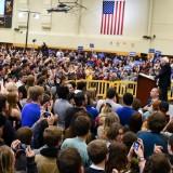 Bernie Sanders in Ohio on February 25, 2016. Baldwin Wallace University