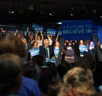 Bernie Sanders in Traverse City, Michigan on March 4, 2016. Todd Church / Flickr