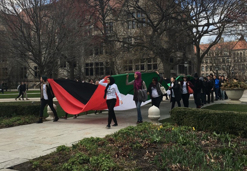 A student march this week at the University of Chicago calling for divestmentfromIsrael. Ahona Mukherjee / Chicago Maroon