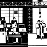 "Gerd Arntz, ""Factory Inspection,"" 1935."