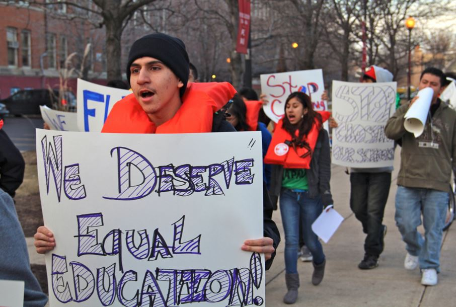 Chicago students protesting closings on February 20, 2012. Tim Furman / Flickr