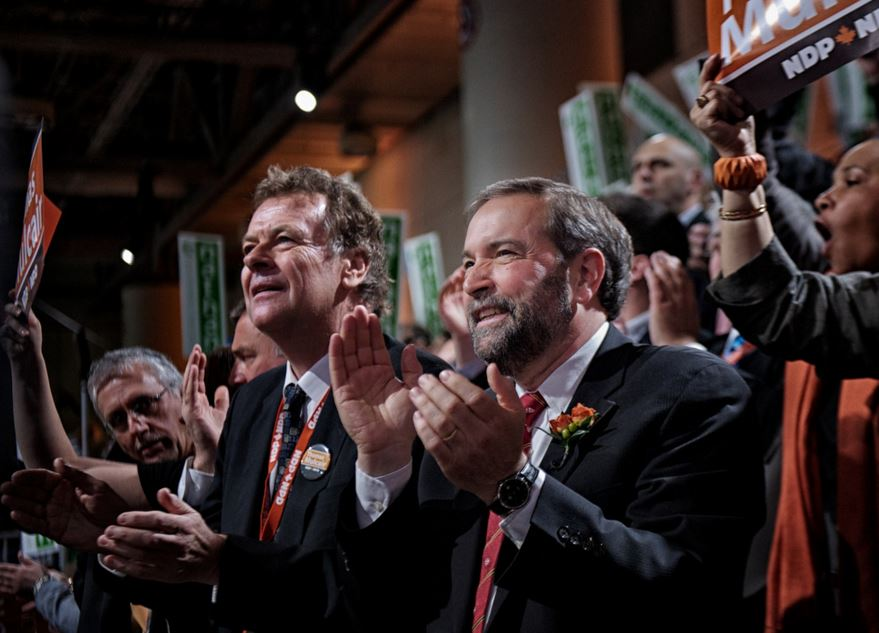 Thomas Mulcair at the New Democratic Party convention in March 2012. Matt Jiggins / Flickr