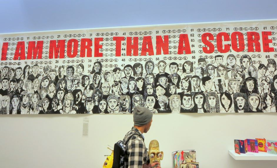 Art by Chicago Public Schools students at a citywide exhibition in 2014. Ann Fisher / Flickr