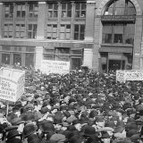 Strikers in New York City's Union Square on May Day 1913. Library of Congress
