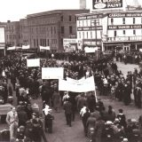 A May Day march in Edmonton, Canada in 1937. City of Edmonton Archives