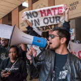 A rally against Donald Trump at the University of Wisconsin. Joe Brusky / Flickr