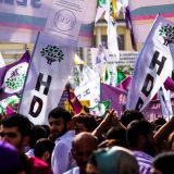 An HDP rally on June 5, 2015 in Diyarbakir, Turkey. Dogan Ucar / Flickr