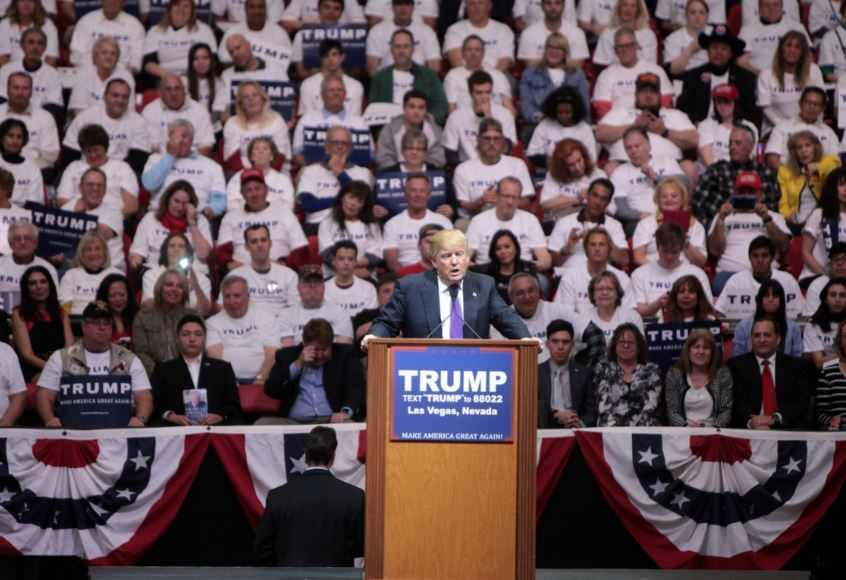 Donald Trump in Las Vegas, Nevada in February 2016. Gage Skidmore / Flickr