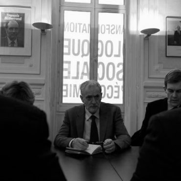 Jeremy Corbyn meeting with France's Socialist Party on July 12, 2015. Éric Spiridigliozzi