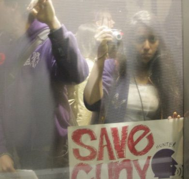 Student protesters at Baruch College in New York, NY in 2011. Timothy Krause / Flickr