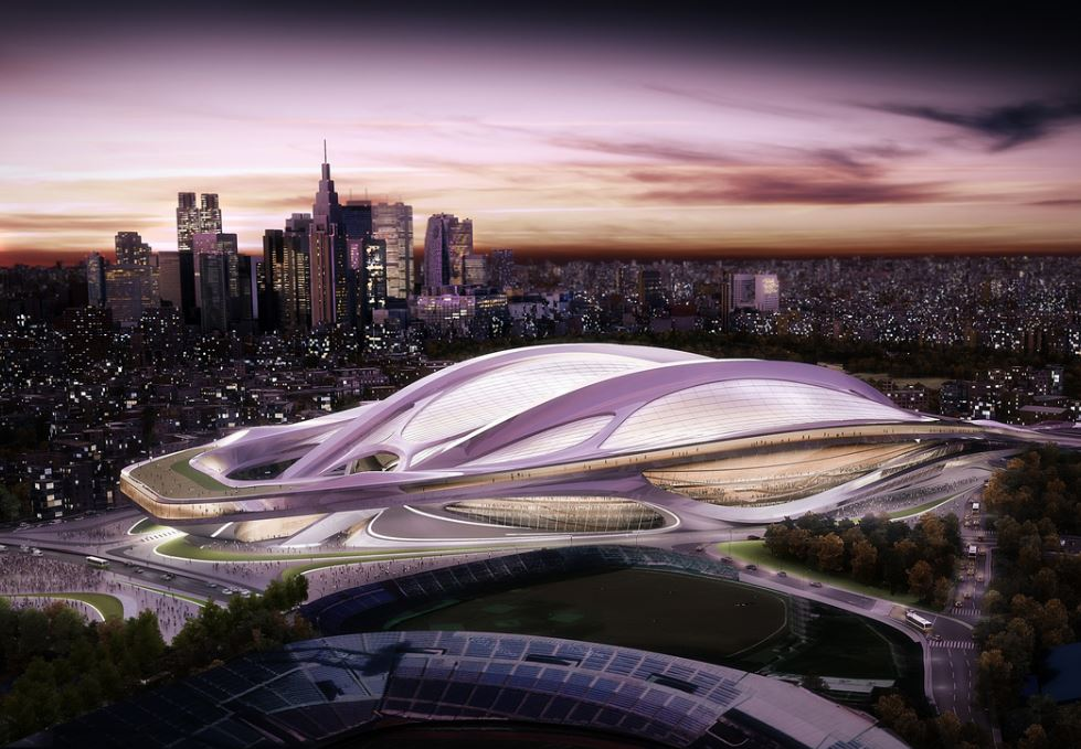 A mock-up of Zaha Hadid's proposal for Japan's new national stadium. ForgeMind ArcheMedia / Flickr