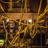 Police tape strung by activists over the Minnesota governor's mansion after the shooting of Philando Castile on July 6, 2016. Tony Webster / Flickr